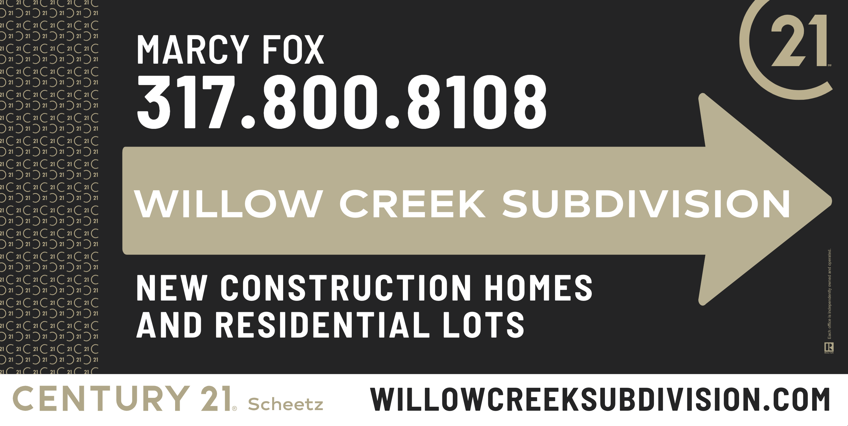 Willow Creek Subdivision Sign