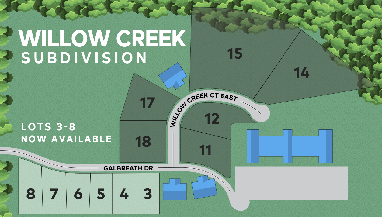 Willow Creek lots only