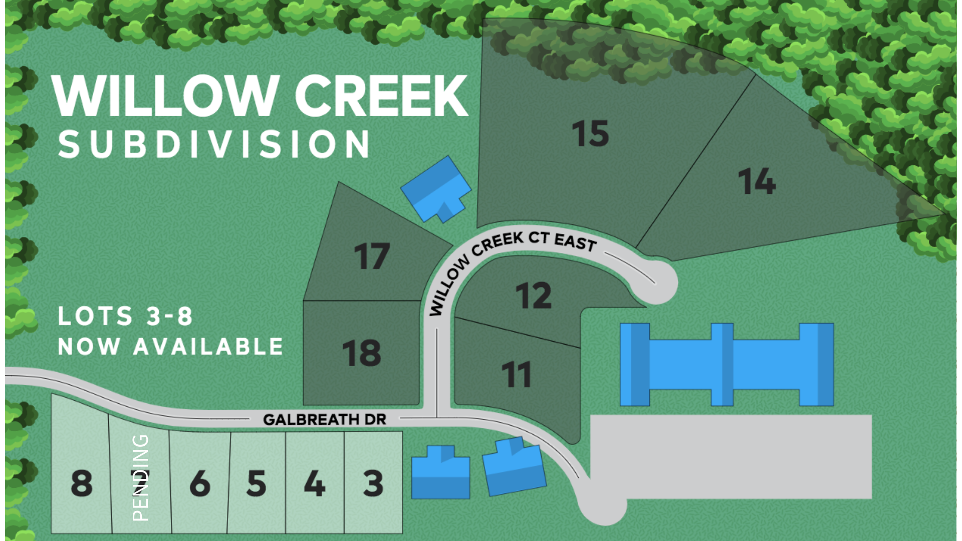 WILLOW CREEK LOT MAP WITH 7 PEND